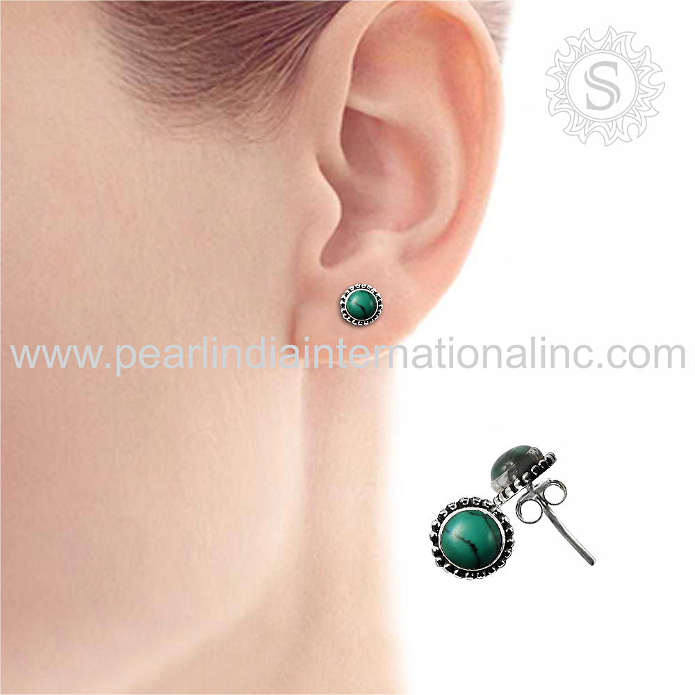 Perfection Of Turquoise 925 Sterling Silver Jewelry Charming Indian Jewelry Wholesaler Jaipur