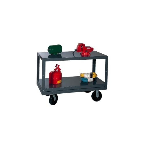 "Edsal PMD2436, 24"" x 36"" x 32"" 6in Polypropylene Casters Portable Steel Table"