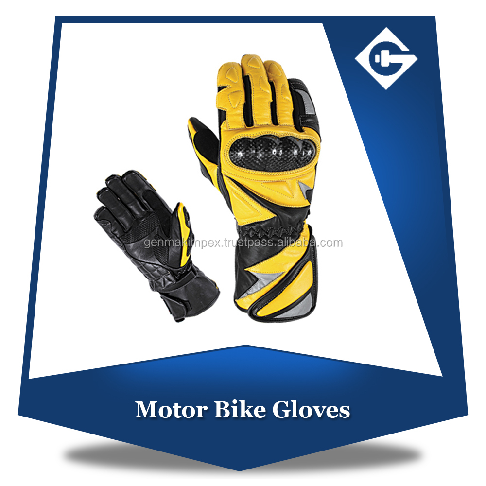 Well-designed Motorbike Leather Gloves