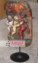 Indian Old Wooden Kamasutra Statue