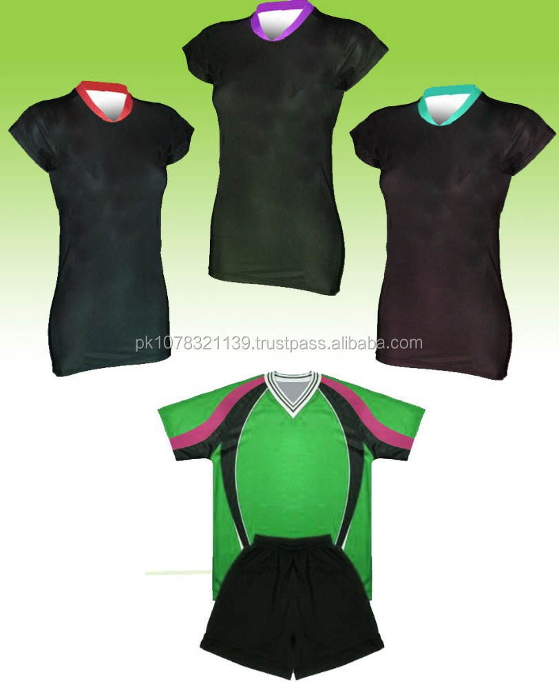 Best Custom Made Sublimation Fashion Promotional Volleyball Jersey and shorts