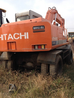 Used Hitachi Wheel Excavator EX100WD Good Condition