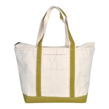 "Zippered ""Extra Large"" Top Tote Bag / Canvas Boat Bag"