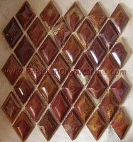CUSTOM DESIGN AND SAHPE RED ONYX MOSAIC TILES