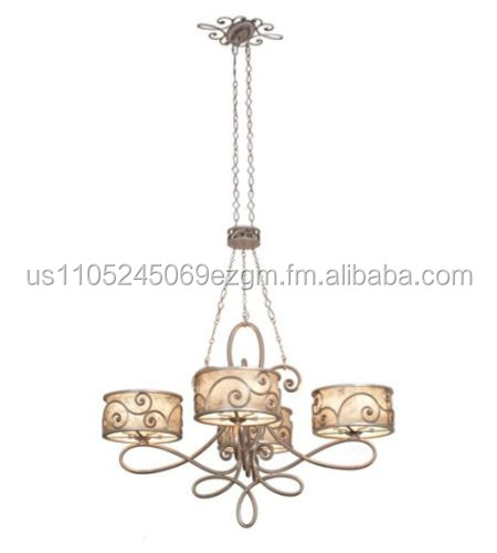 Kalco Lighting 5412SV 20-Light Windsor Chandelier, Aged Silver Finish with Mica Shades