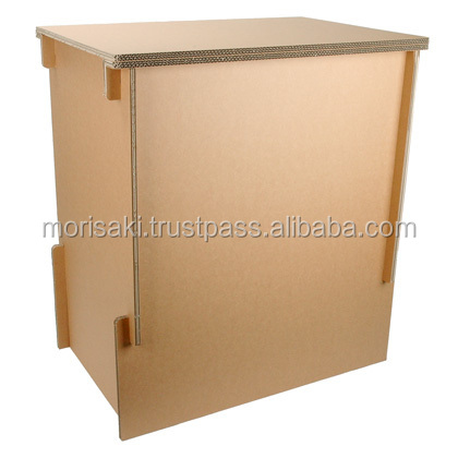 Reinforcement corrugated cardboard and Handcrafted exhibition display stand hacomo cardboard furniture for Easy to use