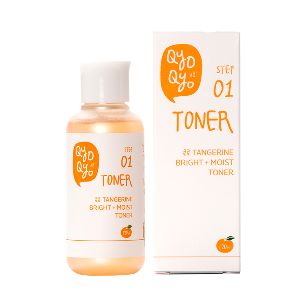 QyoQYo Tangerine Bright + Moist Toner 120ml Korea Cosmetic Tanegerine Peel Nourishing Soothing Lotus Healthy Moisturizing Best