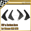 Carbon Fiber For Nissan R35 GTR Early Model 08-11 Front Bumper Canard Lip Splitter Fin Valance Chin 4pcs (For OEM Front Bumper)