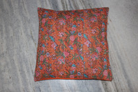 new india handmade handprinted block printed cushion cover