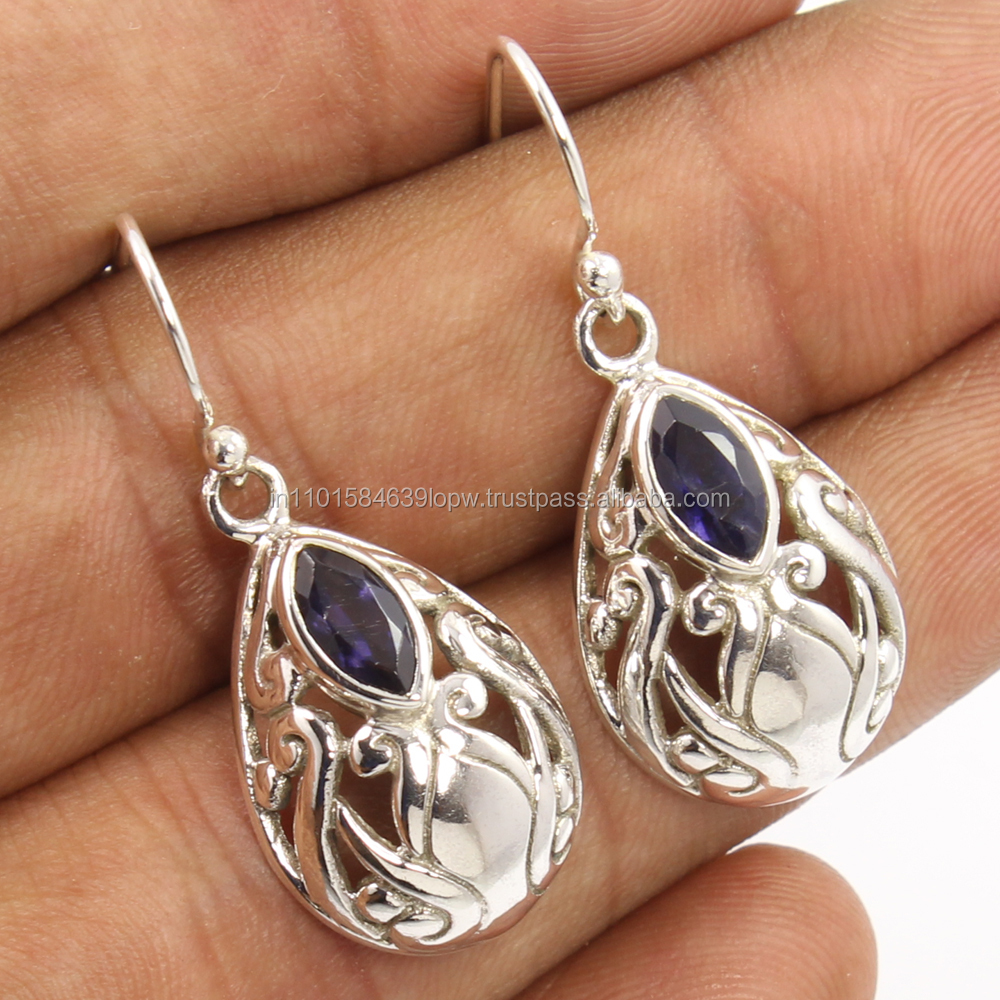 Hot selling fashion earrings, iolite 2016 earrings jewelry Very good quality