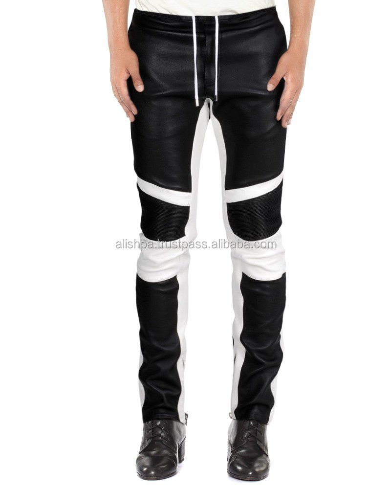 Buy lambskin leather trousers online for a refreshingly youthful update to your wardrobe. Customized fit and contrast panels