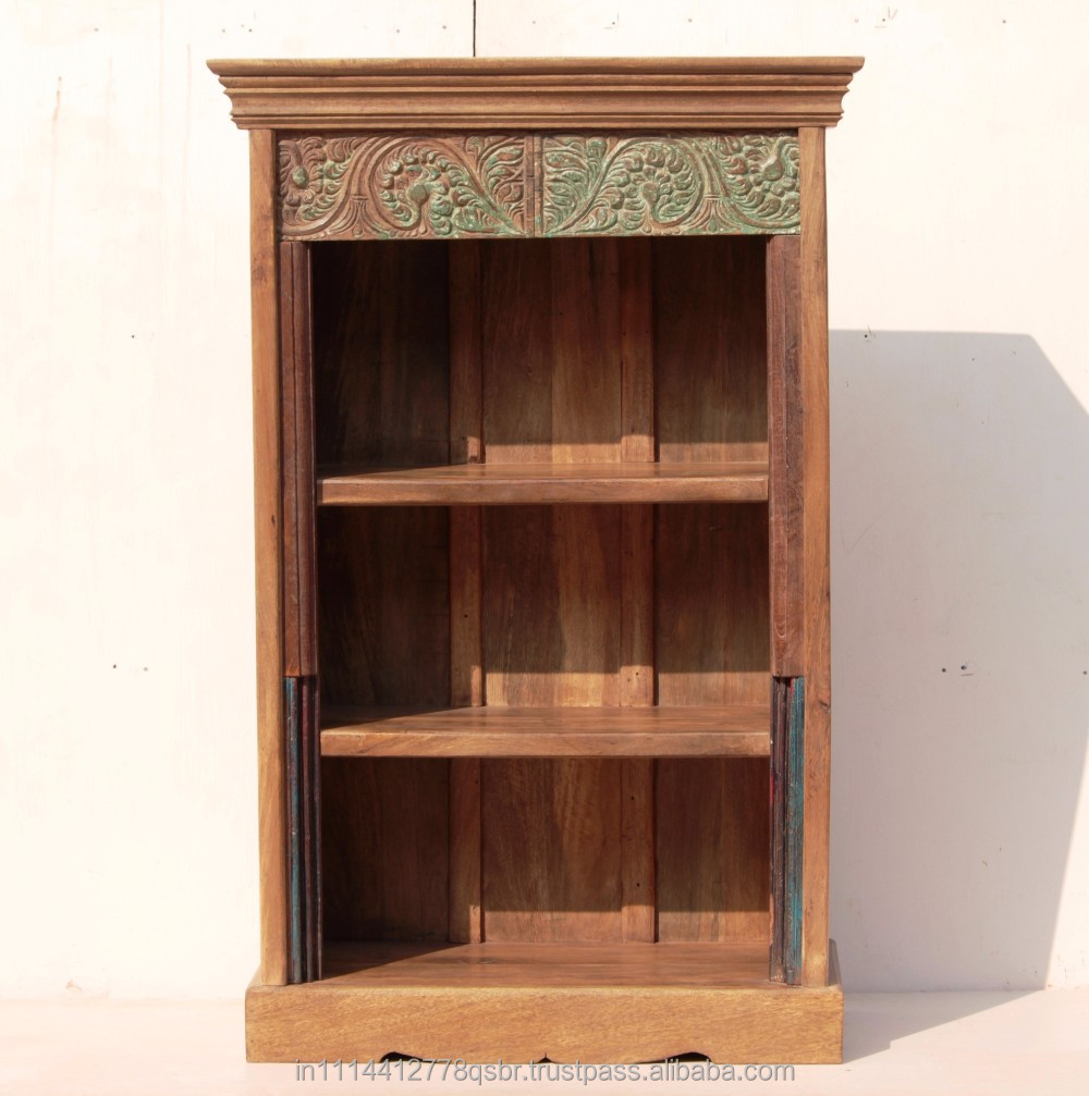 Wooden Natural PP Wax Polish Small Handicraft Bookshelf