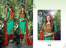 Printed Salwar Kameez / Neck Designs For Salwar Suits / Dress Material/Indian