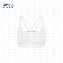 Hito Elegant High Quality Prana Flow Sports Bra White Fashionable Sexy Sports Bra, Fitness wear, Yoga & Active wear HE-SB-0011