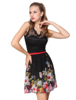 Padded Floral Printed Chiffon Lace Empire Line Casual Dress HE03662 Mix Wholesale