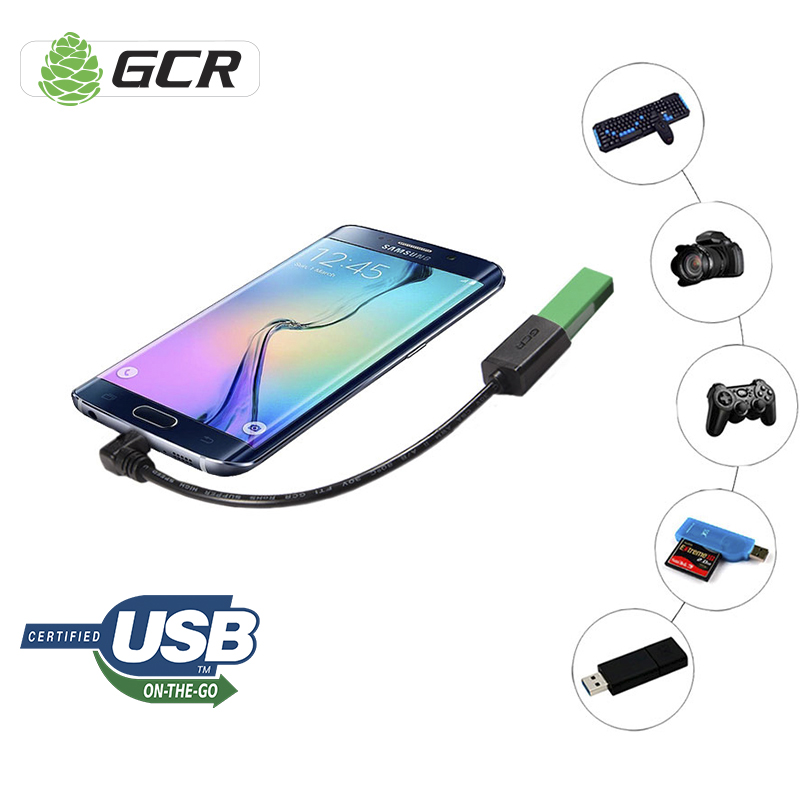Micro USB 2.0 OTG Premium Quality Data Cable 90 degree Angle for High Speed Sync for Android Phone and other digital devices