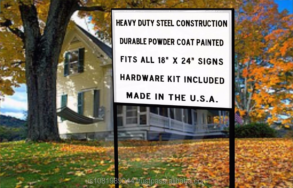 Heavy Duty Yard Real Estate / Construction Sign Frame