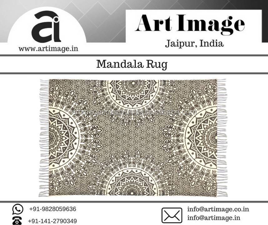 Indian Handmade Mandala Round Screen Printed Beach Throw Yoga Mat Boho Wall hanging Tapestry Mandala Wall Rug