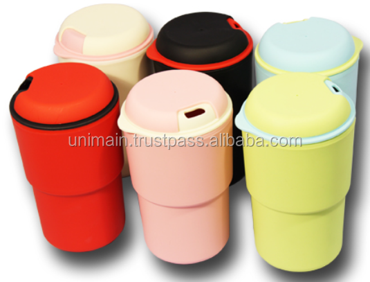 Logo Print Friendly BPA Free Tumbler Macaron Wall Mug Combi 350ml Silicon Tumbler Tea Coffee Mug My Bottle