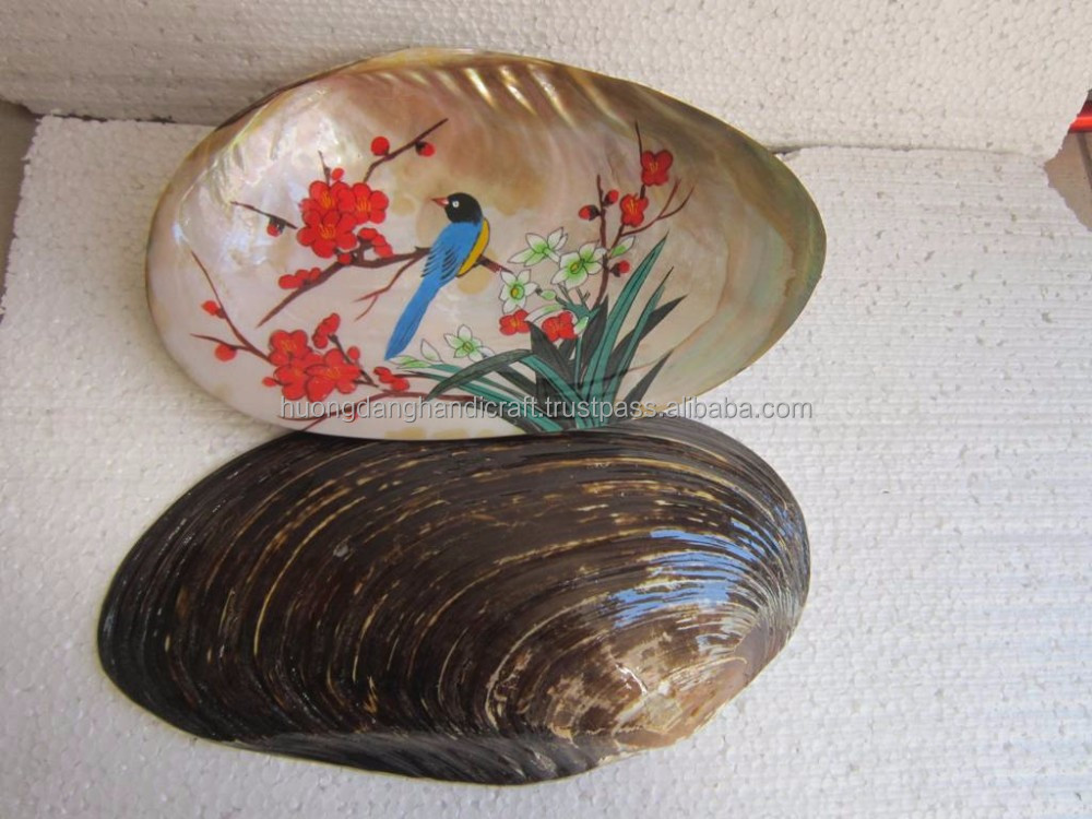 painting in seashell made in Viet Nam/ art painting in the seashell/ antique gift for friend