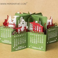 3d Pop Up Calendar Famous Monuments