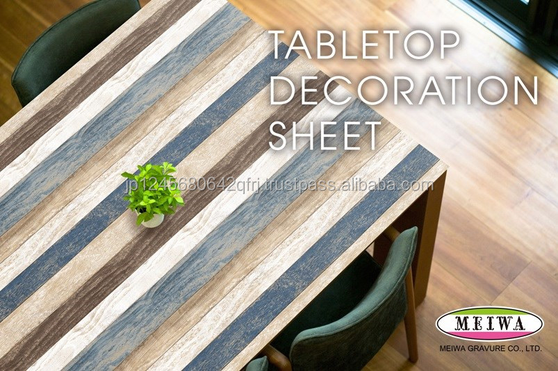 Table decoration sheet by Meiwa Gravure made in Japan [search word->>] auto trim adhesive