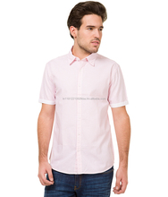 Mode Manor Men's Striped Casual Pink Shirt