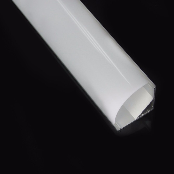 Aluminum Corner Extrusion Lighting Profiles for LED with Dome Cover