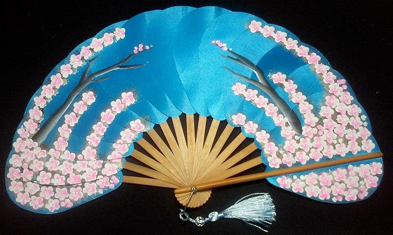 HANDPAINTED-MODERN fAN or ABANICO