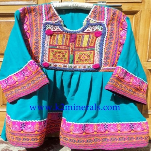 Handmade bohemian traditional kuchi afghan dress banjara100