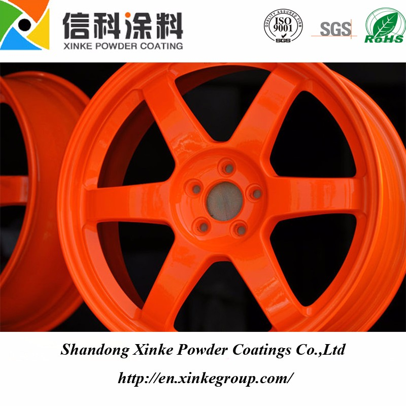orange powder coating for ourdoor use
