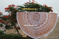 Indian Vintage Round Tapestry Wall Hanging Beach Throw Towel Yoga Mat Boho Decor