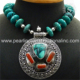 Exceptional coral turquoise gemstone silver necklace 925 sterling silver jewelry handmade necklace wholesaler jewelry supplier