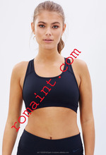 Lady High Quality Plain Mesh Back FITNESS Sport Wear and Yoga Bra Top