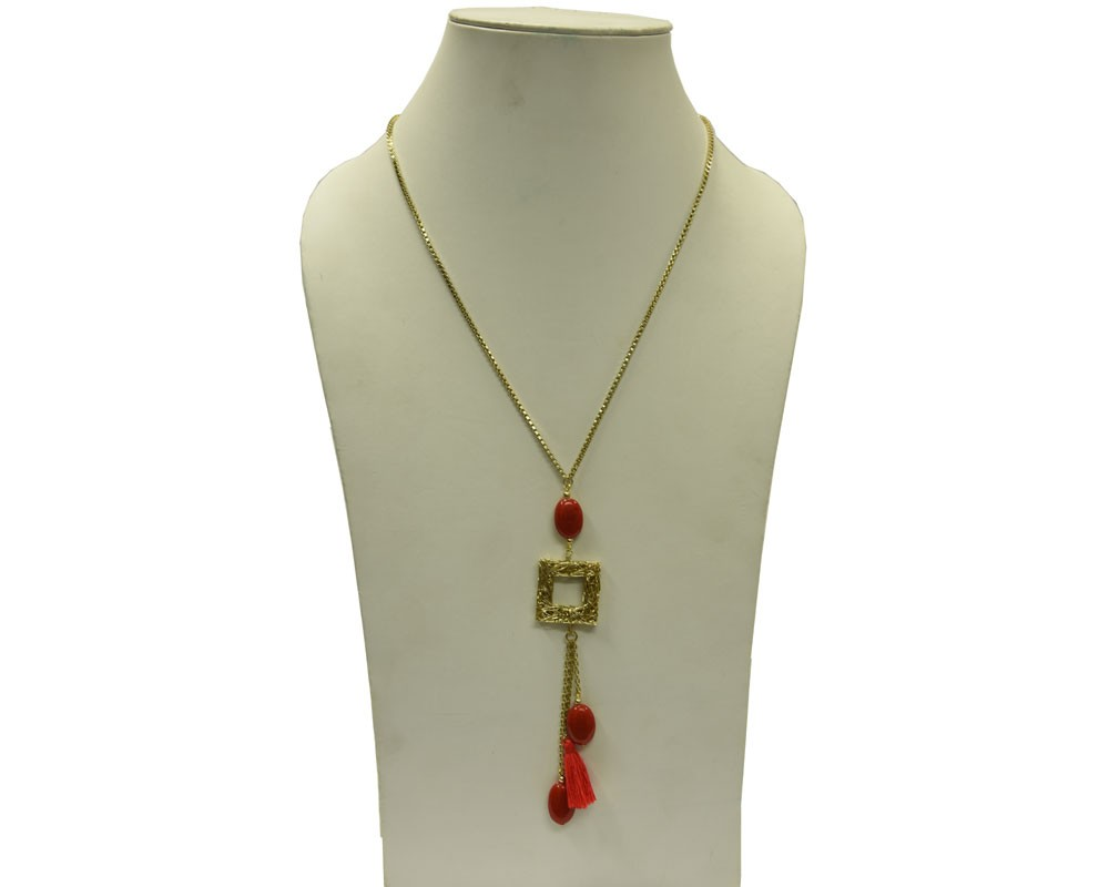 Beads India Hot Coral 1404264 Necklace