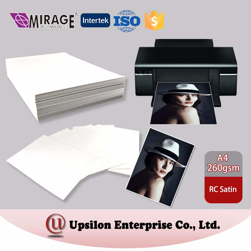Wholesale 4X6 Size 260gsm Satin Resin Coated Photo Paper