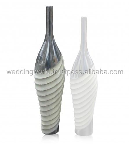 Zinc Finish Vase Tall Aluminium Vase Outdoor Metal Vases Buy