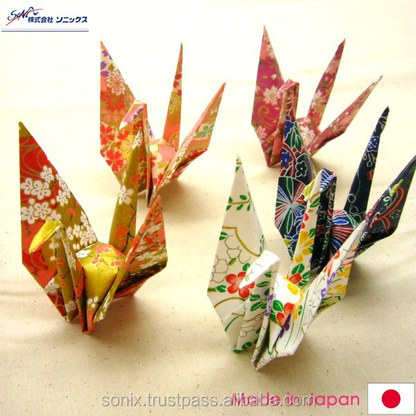 CHIYOGAMI , usable for making paper craft for kids , colorful flower design