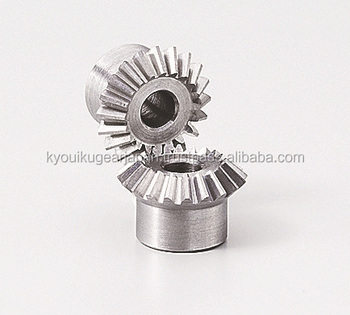 Straight miter gear Module 0.5 Ratio 1 Carbon steel Made in Japan KG STOCK GEARS