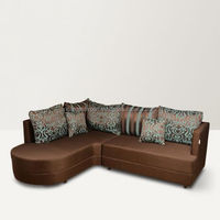 Latest design low price L shape right sofa set for sale