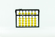6 RODS TEACHER ABACUS WITH YELLOW BEADS (114)