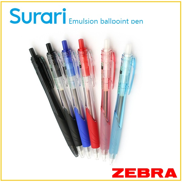 0.7mm ballpoint pen Surari , clear and emulsion ink , top quality products stationery