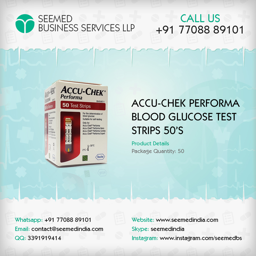 Accu Chek Performa Diabetic Test Strips / Blood Glucose Test Strips 50 Ct