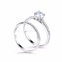 14K White Gold Set with Diamonds Engagement Gold Ring With Price