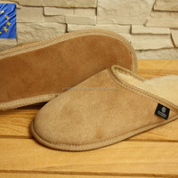 Genuine SHEEPSKIN SLIPPERS Natural FUR LEATHER