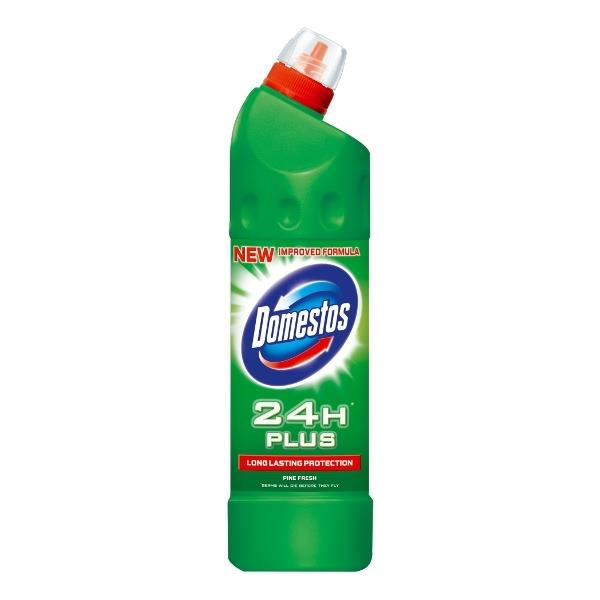 DOMESTOS 750ml Pine CLEANER FOR TOILETTES FMCG