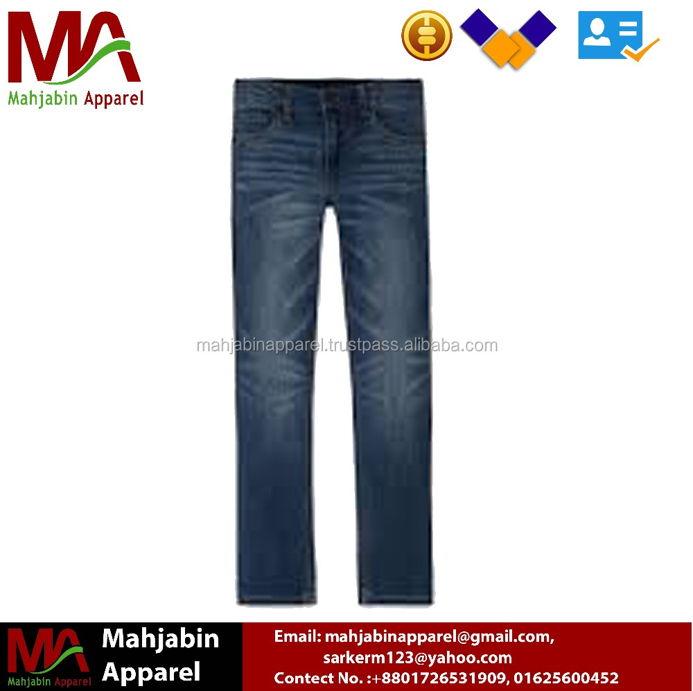 Customize Stretch Straight Leg Skinny Jeans Denim Trousers Flannel Lined Latest Design Jeans Pants for Business Man