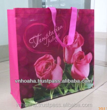 Reusable shopping bags, PP woven shopping bags, Vietnam big factory with 2000 workers, ISO9001-2008 Certified