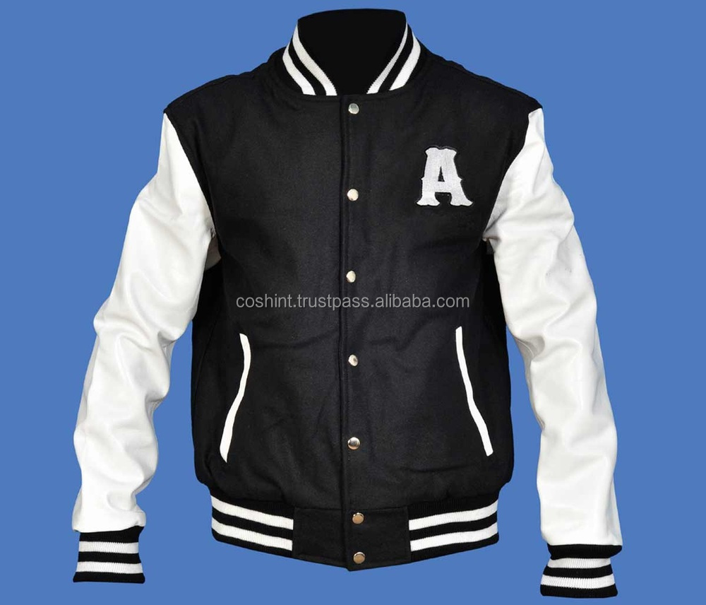 Baseball Varsity Jacket, Wool And Leather Varsity Jacket, wool leather varsity letterman jacket