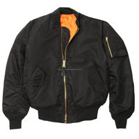 Black Military Air Force MA-1 Reversible Bomber jacket Flight